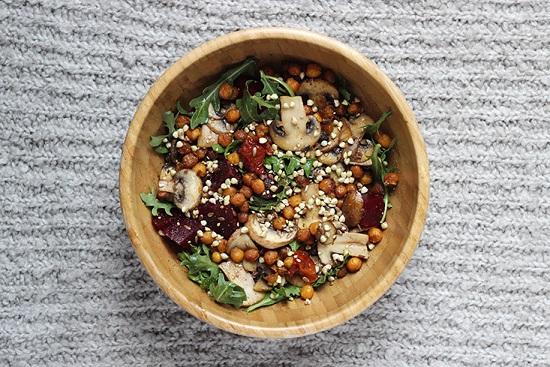 Recette salade d'hiver au chou blanc